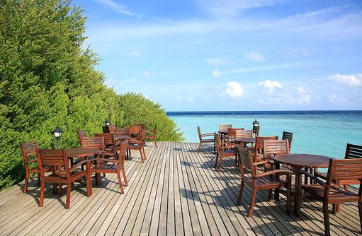 Bar, Sonnenterrasse, Embudu Village, Maldives