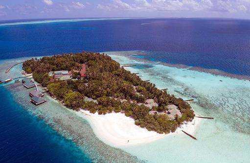 Luftansicht, Embudu Village, Maldives