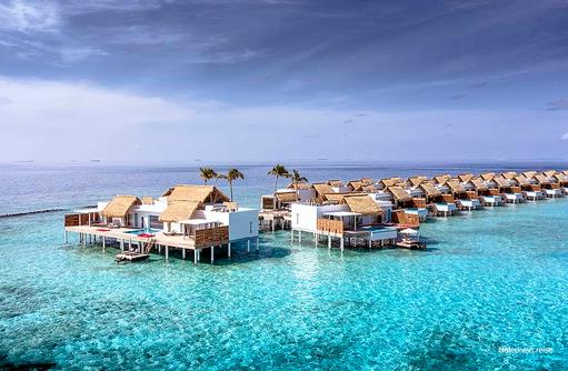 Ende des Stegs, Emerald Maldives