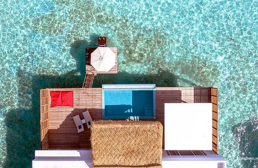 Vogelperspektive Water Villa with Pool, Emerald Maldives