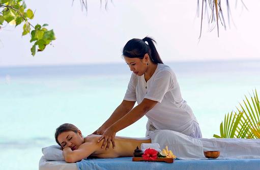 Massage im Freien, smartline Eriyadu, Maldives
