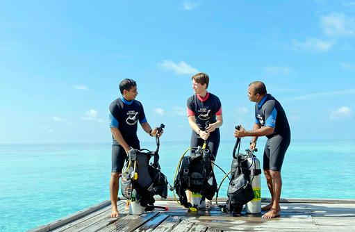 Tauchen, Tauchlehrer, smartline Eriyadu, Maldives