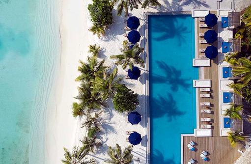 Luftaufnahme Pool, Faarufushi Maldives