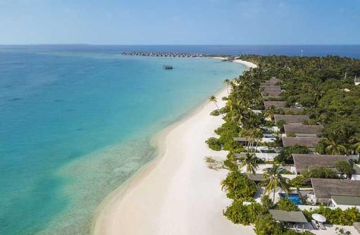Aerial Beach, Fairmont Maldives Sirru Fen Fushi