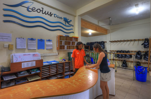 Aeolus Dive Center, Tauchen, Fihalhohi Island Resort, Maldives