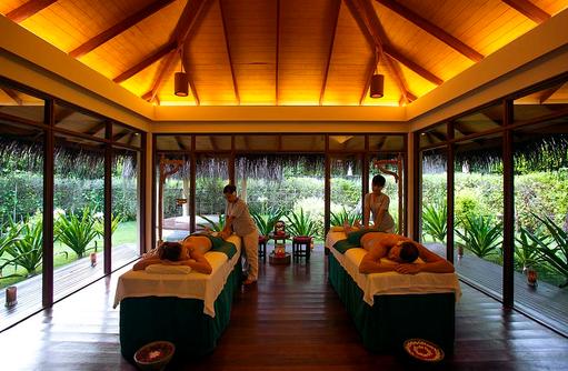 Paarmassage im Filitheyo Spa, Filitheyo Island, Malediven