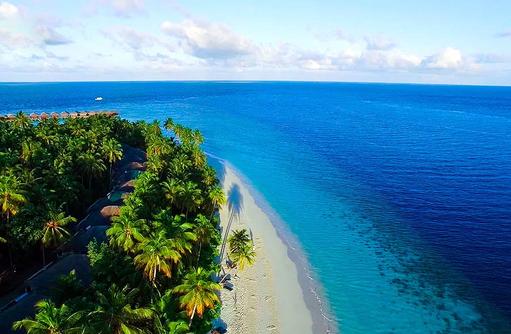 Inselimpression, Filitheyo Island, Malediven