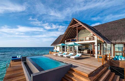 Wassersuite mit zwei Schlafzimmern, Four Seasons Resort Maldives at Landaa Giraavaru