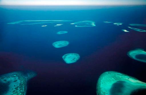 Maledivenatolle von oben, Four Seasons Resort Maldives at Landaa Giraavaru