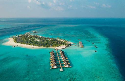 Luftaufnahme, Fushifaru Maldives