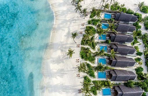 Pool Beach Villa, Vogelperspektive, Fushifaru Maldives