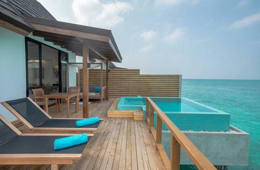 Pool Water Villa, Deck, Fushifaru Maldives