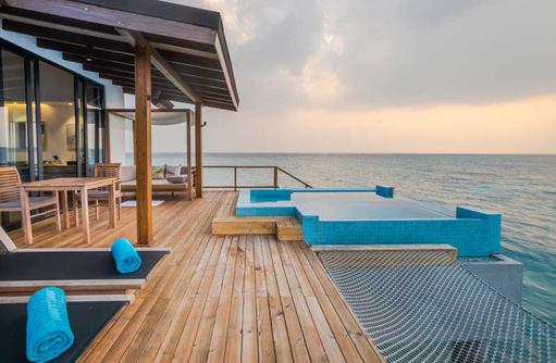 Premium Pool Water Villa, Deck, Fushifaru Maldives