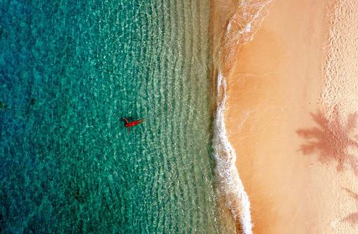 Treiben lassen, Sandstrand, Fushifaru Maldives