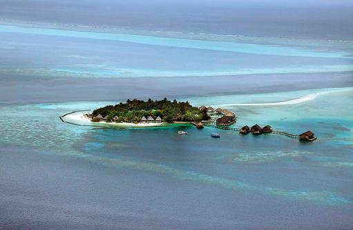 Luftansicht, Gangehi Island Resort, Maldives