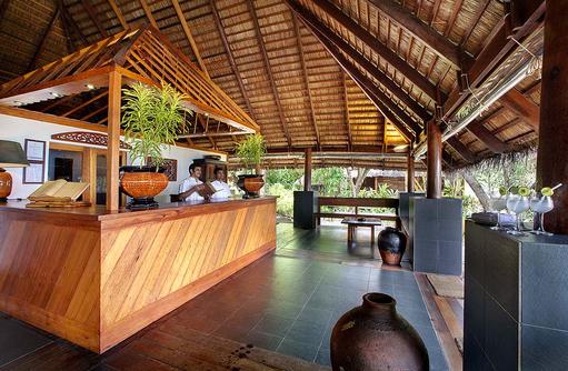 Rezeption, Willkommen, Gangehi Island Resort, Maldives