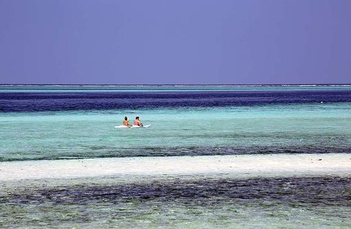 Sandbank, Kanufahren, Gangehi Island Resort, Maldives