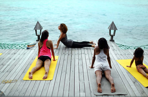 Yoga, Gangehi Island Resort, Maldives
