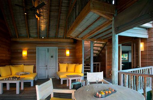 Lagoon Villa, Wohnbereich, Gili Lankanfushi, Maldives