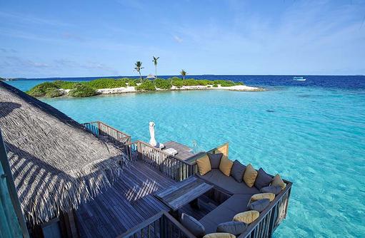 Family Villa, Terrasse, Blick von oben, Gili Lankanfushi, Maldives