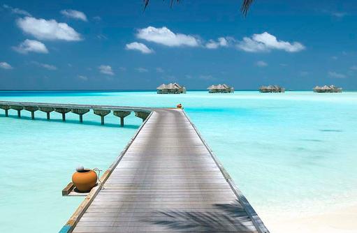 Ankunftssteg, Willkommen auf Gili Lankanfushi, Maldives