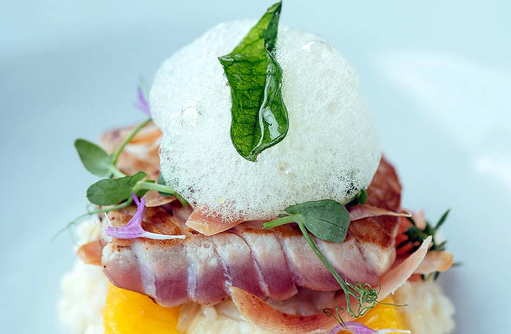 Exquisite Küche, geräucherter Thunfisch, Gili Lankanfushi, Maldives