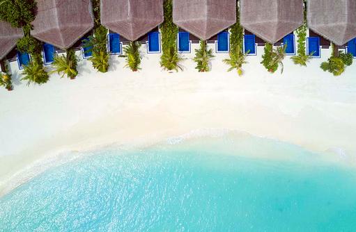 Beach Villa Luftaufnahme, Grand Park Kodhipparu