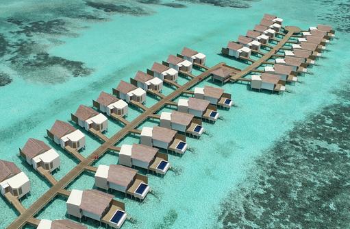 Drohnenaufnahme, Hard Rock Hotel Maldives