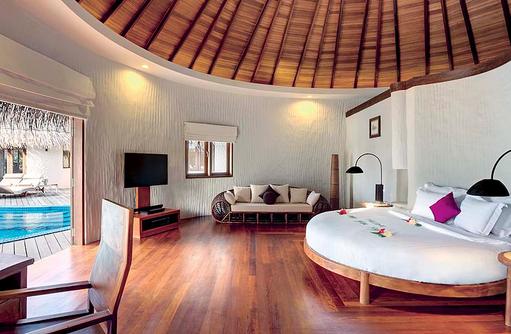 Schlafzimmer des Hideaway Palace, Hideaway Beach Resort & SPA, Maldives