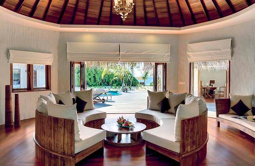 Wohnbereich des Hideaway Palace, Hideaway Beach Resort & SPA, Maldives