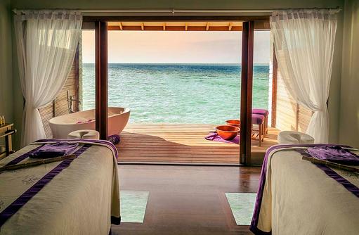Massageraum im Duniye Spa, Hurawalhi Island Resort, Maldives