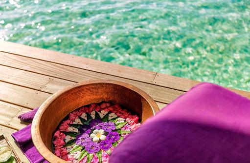 Duniye Spa, Fussbad, Hurawalhi Island Resort, Maldives