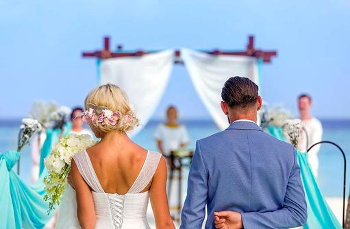 Hochzeitspaar, Hurawalhi Island Resort, Maldives