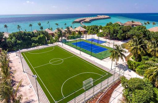 Fußballplatz, Hurawalhi Island Resort, Maldives