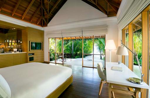 BEach Bungalow, Schlafzimmer, Strandzugang, Huvafen Fushi Maldives