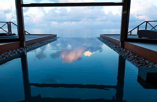 Ocean Pavillon, Pool, Sonnenuntergang, Huvafen Fushi Maldives