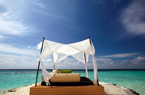 Day Bed, Himmelbett am Meer, Huvafen Fushi Maldives