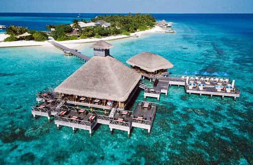 Salt Raw Restaurant von vorne, Huvafen Fushi Maldives