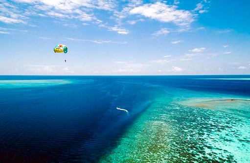Paragliding, Wassersport, Huvafen Fushi Maldives