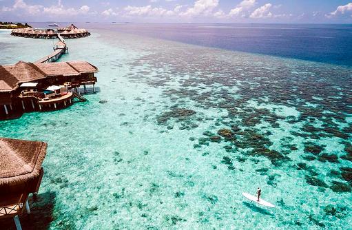 Ocean Pavillons, Paddle Board, Huvafen Fushi Maldives