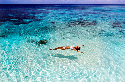 Meer, Model, Huvafen Fushi Maldives