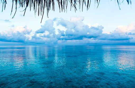 Sonnenaufgang, blau in blau, Huvafen Fushi Maldives