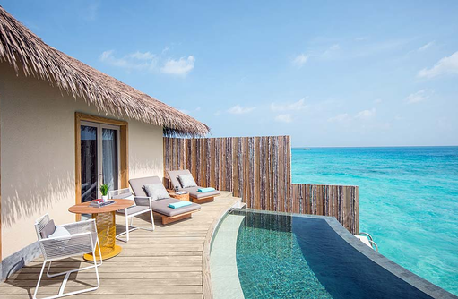 Outdoor Pool Deck - SunriseOverwater Pool Villa, InterContinental Maldives