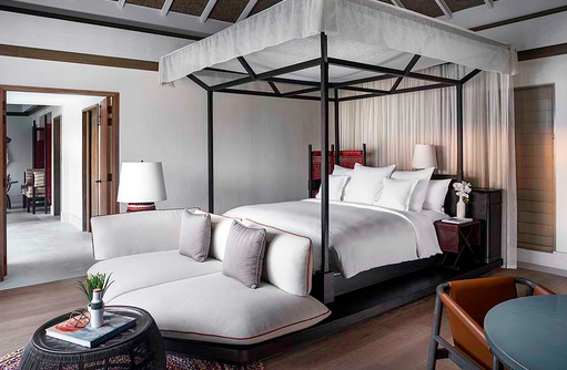 Bedroom - One Bedroom Beach Villa with Pool, InterContinental Maldives