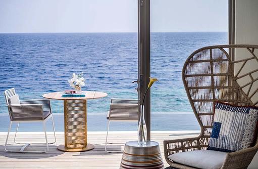 Wohnraum, Terrasse, InterContinental Maldives