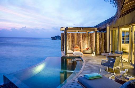 Outdoor Pool Deck - Sunset Overwater Pool Villa, InterContinental Maldives