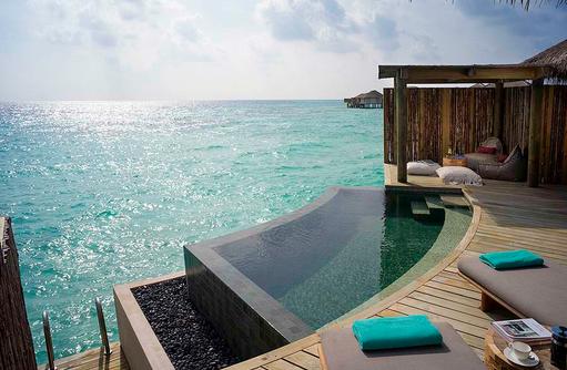 Outdoor Pool Deck - Overwater Pool Villa, InterContinental Maldives