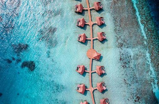 Overwater Pool Villas (Aerial View), InterContinental Maldives