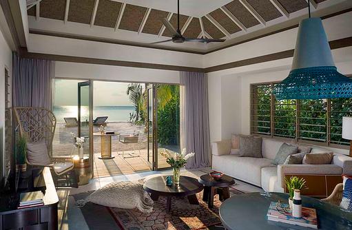 Living Room - One Bedroom Beach Villa with Pool, InterContinental Maldives