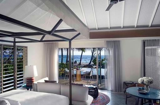 Bedroom - Beach Villa with Pool, InterContinental Maldives
